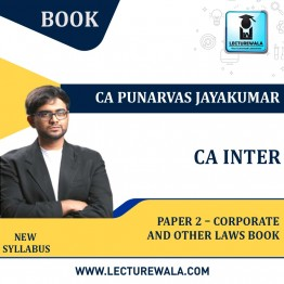 CA Inter Paper 2 – Corporate and Other Laws Book : By CA Punarvas Jayakumar (For Nov. 2021 & May 2022)