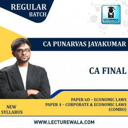 CA Final Combo Corporate and Economic Laws + Paper 6D – Economic Laws Regular Course New Syllabus : Video Lecture + Study Material By CA Punarvas Jayakumar (For Nov. 2021 / May 2022)