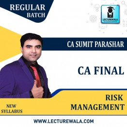 CA Final RM (Risk Management) Google Drive Classes by Sumit Parashar Sir For May-22 & Onwards - Full HD Video Lecture + HQ Sound