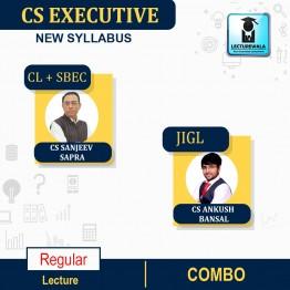 CS Executive Combo (JIGL + CL + SBEC) Regular Course : Video Lecture + Study Material By CS Sanjeev Sapra & CS Ankush Bansal (For Dec. 2021 / June 2022)