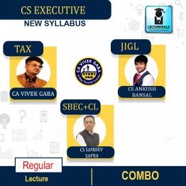 CS Executive Combo (Tax + JIGL + SBEC + CL) Regular Course : Video Lecture + Study Material By CA Vivek Gaba, CS Sanjeev Sapra & CS Ankush Bansal (For Dec. 2021 / June 2022)