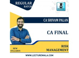 CA Final Risk Management Full Subject Regular Course : Video Lecture + Study Material By CA Shivam Palan (For Nov 2021 & Onwards)