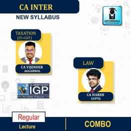 CA Inter Taxation + Law Combo Regular Course : Video Lecture + Study Material by CA Vijender Aggarwal & CA Harsh Gupta (For Nov. 2021 & May 2022)