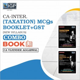 CA Inter Taxation (GST) + MCQ Booklet Book (HARD BOOK): Study Material By CA Vijender Aggarwal (For Nov. 2021)