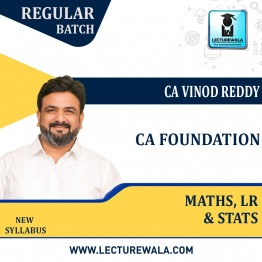 CA Foundation Business Mathematics, Logical Reasoning And Statistics Regular Course : Video Lecture + Study Material By CA Vinod Reddy (For Nov. 2021 & May 2022)