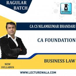 CA Foundation Business Laws Regular Course : Video Lecture + Study Material By CA CS Nilamkumar Bhandari (For Nov. 2021 & May 2022)