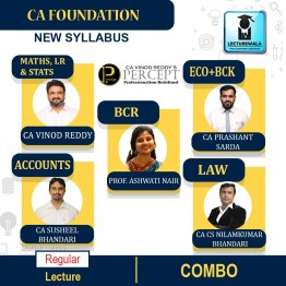 CA Foundation All Subjects Combo Regular Course : Video Lecture + Study Material By CA Vinod Reddy's Percpet (For Nov. 2021 & May 2022)