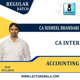 CA Inter Accounting Regular Course : Video Lecture + Study Material By CA Susheel Bhandari (For Nov. 2021 & May 2022)
