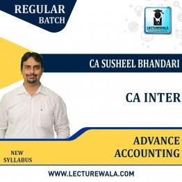 CA Inter Advance Accounting Regular Course : Video Lecture + Study Material By CA Susheel Bhandari (For Nov. 2021 & May 2022)