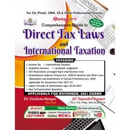 CA Final Direct Tax & International Taxation : Book By CA Yogendra Bangar (For Nov. 2021)