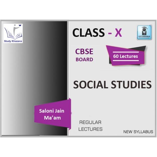 CBSE BOARD CLASS X SOCIAL STUDIES BY SALONI JAIN MA'AM (FOR 2019-20 EXAM)
