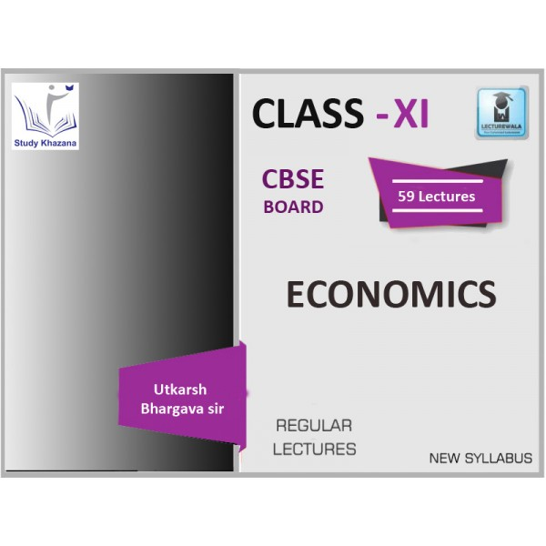 CBSE BOARD CLASS XI ECONOMICS BY UTKARSH BHARGAVA SIR (FOR 2019-20 EXAM)