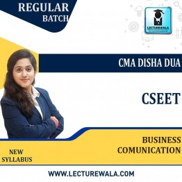 CSEET Business Comunication Regular Course : Video Lecture + Study Material By CMA Disha Dua (For May 2021 & june 2021)