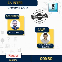 CA Inter Accounts & Law Combo Regular Course : Video Lecture + Study Material By CA Jai Chawla  & CA ABHISHEK BANSAL  (For NOV2021 & MAY 2022)