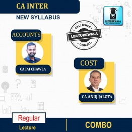 CA Inter Accounts And Costing (Edition-17) Combo Regular Course : Video Lecture + Study Material By CA Jai Chawla  & CA Anuj Jalota  (For NOV 2021 & MAY 2022)
