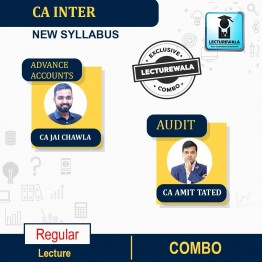 CA Inter ADV.Accounts and AUDIT Combo Regular Course : Video Lecture + Study Material By CA Jai Chawla and CA Amit Tated  (For Nov. 2021 & May 2022)