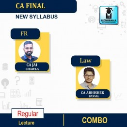 CA Final FR And LAW Combo Regular Course : Video Lecture + Study Material By CA Jai Chawla  & CA Abhishek bansal  (For NOV 2021 & MAY 2022)