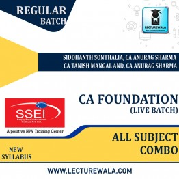 CA Foundation All Subject Combo Live Batch Regular Course New Syllabus : Video Lecture + Study Material by SSEI (For Nov 2021 & May 2022)