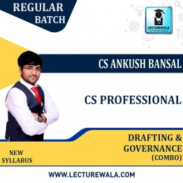 CS Professional Combo (DPA + GRMCE) Regular Course : Video Lecture + Study Material By CS Ankush Bansal (For June / Dec. 2021)