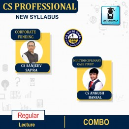 CS Professional Combo (Multidisciplinary Case Studies + Corporate Funding & Listings) Regular Course : Video Lecture + Study Material By CS Sanjeev Sapra & CS Ankush Bansal (For Dec. 2021 / June 2022)