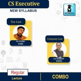 CS Executive Company Law + Tax Law Module - 1 (GST , Custom & Income Tax)  Regular Course : Video Lecture + Study Material By CA Vivek Gaba  and CA Sanjeev Sapra (For June 2022)
