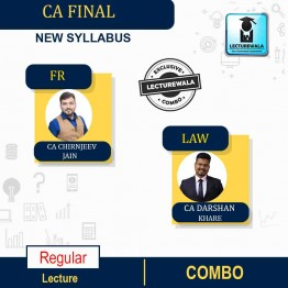 CA Final Financial Reporting (FR) + Law New Recording Full Course : Video Lecture + Study Material By CA Chiranjeev Jain And CA Darshan Khare, (For NOV 2021, MAY 2022)