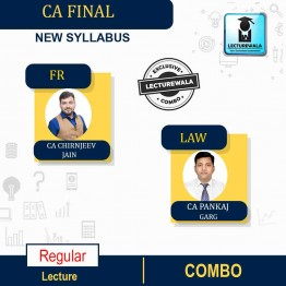 CA Final Financial Reporting (FR) + Law New Recording Full Course : Video Lecture + Study Material By CA Chiranjeev Jain And CA Pankaj Garg, (For NOV 2021, MAY 2022)