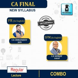 CA Final Financial Reporting (FR) + Strategic Financial Management (SFM) New Recording IN English Full Course : Video Lecture + Study Material By CA Chiranjeev Jain And CA Sanjay Saraf, (For NOV 2021 , MAY 2022, NOV 2022)