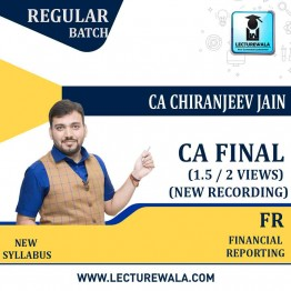 CA Final Financial Reporting  New Recording In English Full Course : Video Lecture + Study Material By CA Chiranjeev Jain (For May 2021 & Nov.2021)