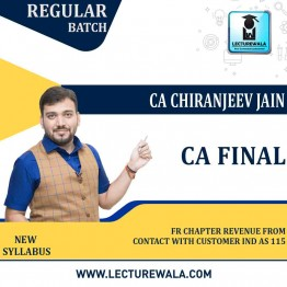 CA Final FR Chapter Revenue From Contact With Customer Ind As 115 : Video Lecture + Study Material By CA Chiranjeevi Jain (For NOV 2021 & MAY 2022)