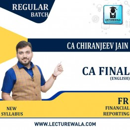 CA Final Financial Reporting  New Recording (English) Full Course : Video Lecture + Study Material By CA Chiranjeev Jain (For NOV 2021, MAY 2022 & Onwards)