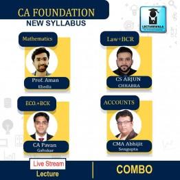 CA Foundation All Subject Combo Full Course Live Stream Batch : by CS Arjun Chhabra, Prof. Aman Khedia, CMA Abhijit Sengupta & CA Pavan Gahukar  (For Nov 2021 & May 2022)