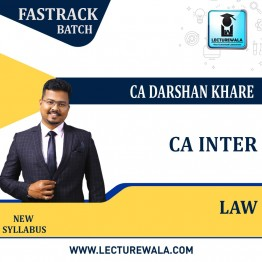 CA Inter Law New Syllabus Crash Course : Video Lecture + Study Material By CA Darshan Khare (For Nov. 2021 & May 2022)