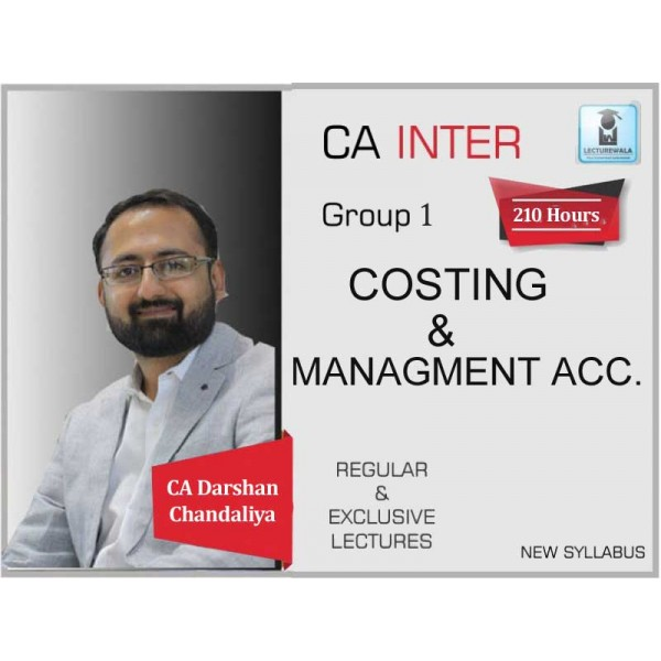 CA Inter Costing Regular Course : Video Lecture + Study Material By CA Darshan Chandaliya (For May 2020 & On wards)