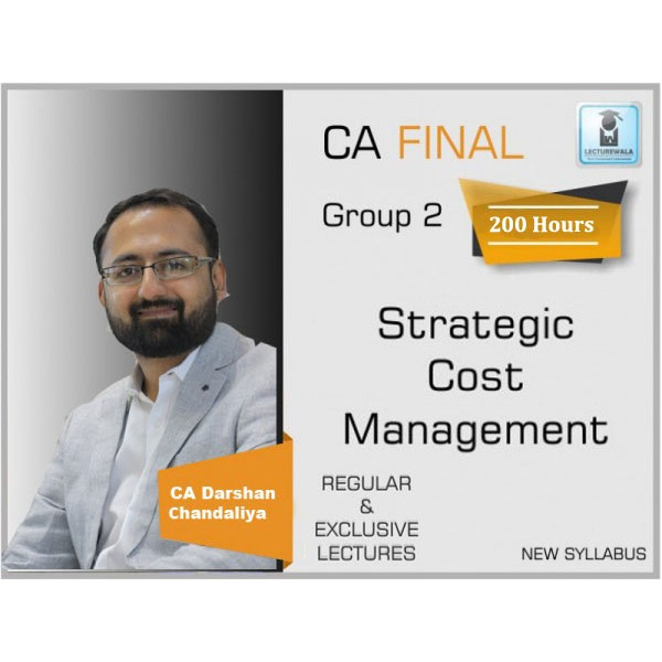 CA Final SCMPE New Syllabus Regular Course : Video Lecture + Study Material By CA Darshan Chandaliya (For May 2020 & Nov. 2020)