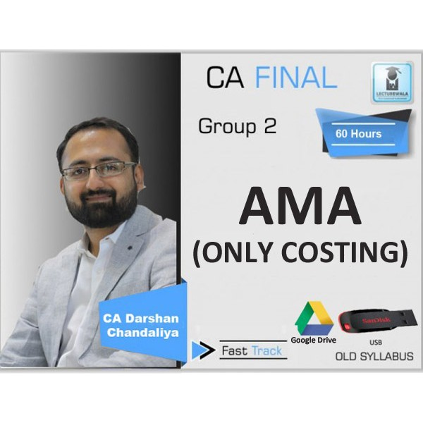 CA FINAL ADVANCE MANAGEMENT ACCOUNT (CRASH COURSE) BY CA DARSHAN CHANDALIYA (FOR MAY & NOV. 19)