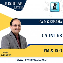 CA Inter Financial Management & Economics Regular Course : Video Lecture + Study Material by DG Sharma (For Nov. 2021 & May 2022)