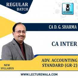 CA Inter Adv Accounting Standard (Gr-2) Regular Course : Video Lecture + Study Material by DG Sharma (For Nov. 2021 & May 2022)