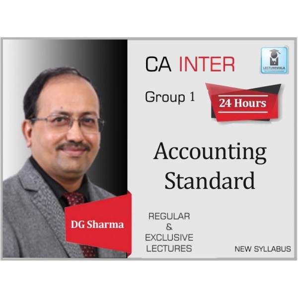 CA Inter Accounting Standard Regular Course : Video Lecture + Study Material by DG Sharma (For May 2020 & Nov. 2020)