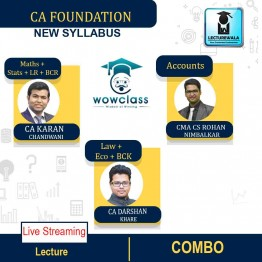 CA Foundation All Subject Combo Live Streaming Batch Regular Course : Video Lecture + Study Material By CA Darshan Khare , CA Rohan Nimbalkar & CA Karan Chandwani (For Nov. 2021 & May 2022)