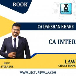 CA Inter Law Chart  Books : Video Lecture + Study Material By CA Darshan Khare (For Nov. 2021)