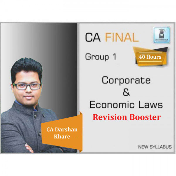 CA Final Law Revision Booster (In Hindi) : Video Lecture + Study Material By CA Darshan Khare (For May 2020 & Nov. 2020)