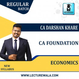 CA Foundation Eco+BCK (Pre - Booking) Regular Course New Recording : Video Lecture + Study Material By CA Darshan Khare (For Nov. 2021 & May 2022)