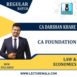 CA Foundation Law & Eco Combo (Pre - Booking) Regular Course New Recording : Video Lecture + Study Material By CA Darshan Khare (For Nov. 2021 & May 2022)