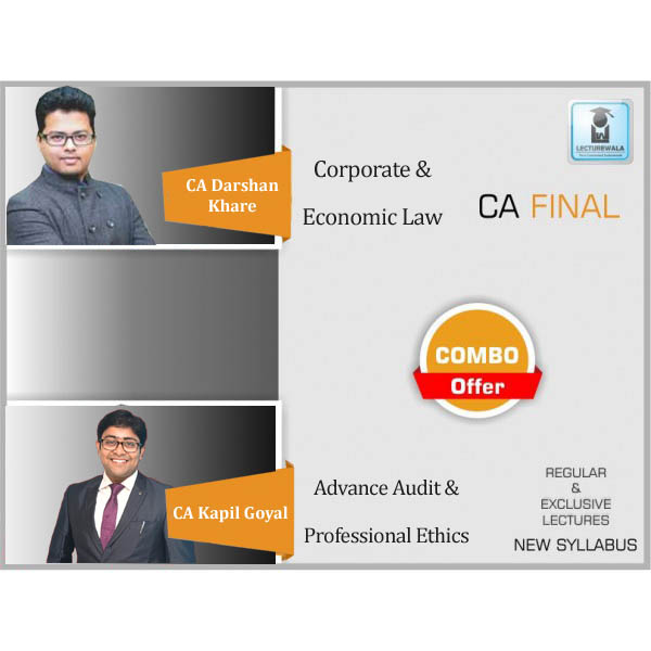 CA Final Audit And Law Combo Regular Course  By CA Darshan Khare & CA Kapil Goyal  (For May 2020)