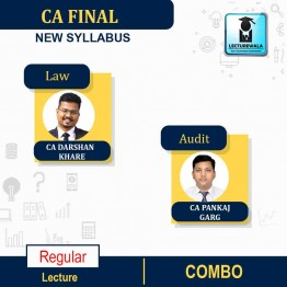 CA Final Combo Audit (Aug./July 2021 Batch) + LAW New Syllabus Regular Course : Video Lecture + Study Material By CA Pankaj Garg & CA Darshan Khare (For Nov.2021 & May 2022)