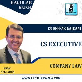 CS Executive Company Law  (Mode - GD & PD) New Syllabus: Video Lecture + Study Material by CS Deepak Gajrani (For Dec 2021 / June 2022)
