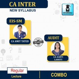 CA Inter Audit & Eis-Sm Combo Regular Course : Video Lecture + Study Material By CA Aarti Lahoti & CA Amit Tated ( For Nov. 2021&  May 2022)