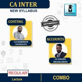 CA Inter Combo Costing & Accounts Regular Course : Video Lecture + Study Material By CA Darshan Chandaliya & CA Anand Bhangariya (For Nov. 2021 & May 2022)