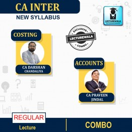 CA Inter Combo Costing & Accounts Regular Course : Video Lecture + Study Material By CA Darshan Chandaliya & CA Praveen Jindal (For Nov. 2021 & May 2022)